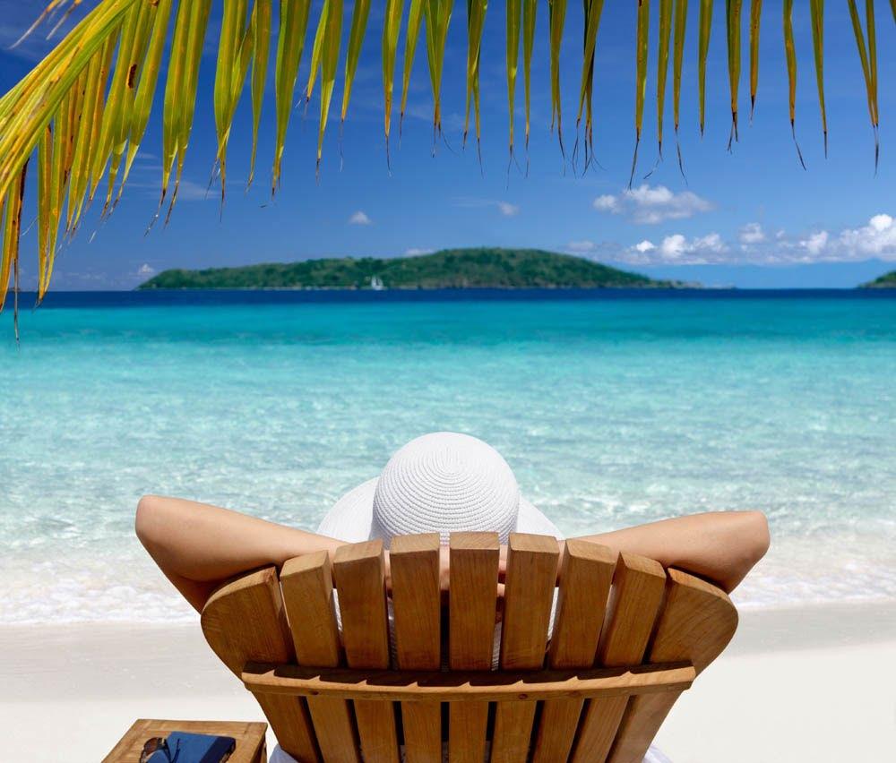Branche Chaise Avec Sous Une Vue Relaxation Sur Palmier De Longue uPikOZX